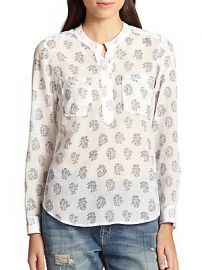 Block Print Top at Saks Off 5th