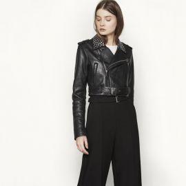Bloodya Leather Jacket at Maje