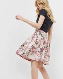Blossom Jacquard full skirt by Ted Baker at Ted Baker