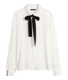 Blouse with bow at H&M