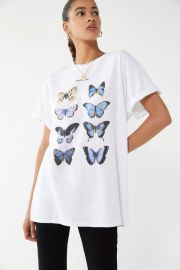 Blue Butterfly Tee at Urban Outfitters