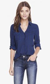 Blue Diamond Convertible Sleeve Portofino Shirt at Express