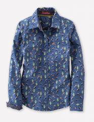 Blue Jay Autumn Birds Shirt at Boden