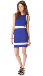 Blue and white colorblock dress by Sauce at Shopbop