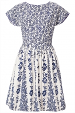 Blue and white floral dress from Topshop at Topshop
