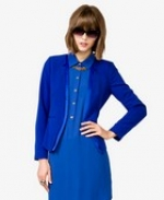 Blue blazer with similar collar at Forever 21
