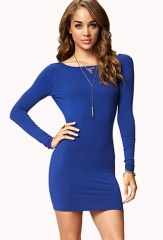 Blue Long Sleeve Dress Forever 21