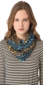 Blue cheetah scarf at Shopbop