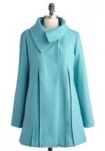 Blue coat like Jess's at Modcloth at Modcloth