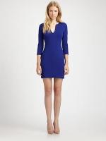 Blue dress by Diane von Furstenberg at Saks Fifth Avenue