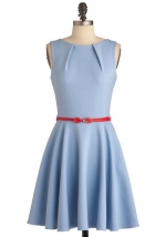Blue dress from Modcloth on New Girl at Modcloth