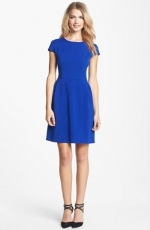 Blue fit and flare dress by Eliza J at Nordstrom