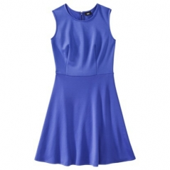 Blue fit and flare dress by Mossimo at Target