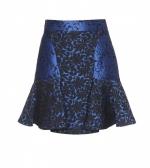 Blue jacquard skirt by Stella McCartney at My Theresa