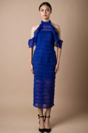 Blue lace dress at Vone