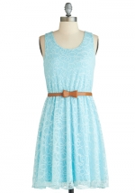 Blue lace dress from Modcloth at Modcloth