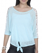 Blue lace top at Wet Seal at Wet Seal
