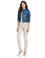 Blue leather jacket by Lucky brand at Amazon