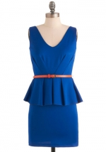 Blue peplum dress at Modcloth at Modcloth