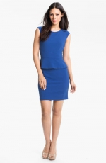 Blue peplum dress by Donna Ricco at Nordstrom