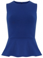 Blue peplum top from Dorothy Perkins at Dorothy Perkins