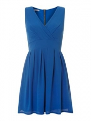 Blue pleated dress by Wal G at House of Fraser