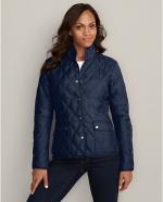 Blue quilted jacket  at Eddie Bauer