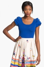 Blue ruffle sleeve top from Nordstrom at Nordstrom