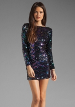 Blue sequin dress at Revolve at Revolve