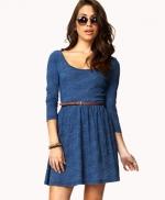 Blue skater dress at Forever 21 at Forever 21