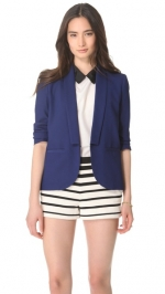 Blue stitch lapel blazer by Band of Outsiders at Shopbop