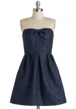 Blue strapless dress at ModCloth at Modcloth