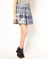 Blue tie dye skirt by River Island at Asos