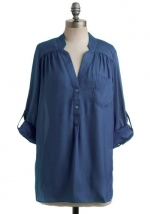 Blue tunic blouse from ModCloth at Modcloth
