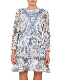Bluebell Print Mini Flip Dress With Lace Up at David Jones