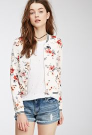 Blurred Floral Bomber Jacket  Forever 21 - 2000136259 at Forever 21
