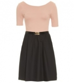 Blush and black dress by Alice and Olivia at My Theresa