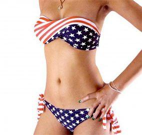 Bnice Womens Sexy USA Flag Bikini Set Casual Patriotic Bathing Suit Two Piece Swimwear at Amazon
