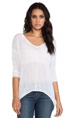 Bobi Mesh Sweater in White  REVOLVE at Revolve
