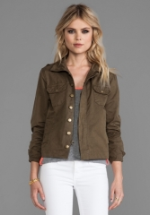 Bobi military jacket at Revolve