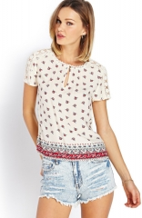 Boho crochet floral top at Forever 21