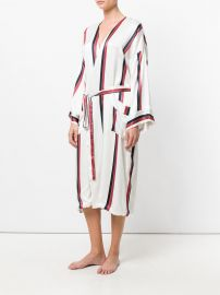 Bold Stripe Robe by Asceno at Farfetch