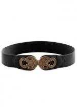 Boldly Buckled Belt in Black at Modcloth