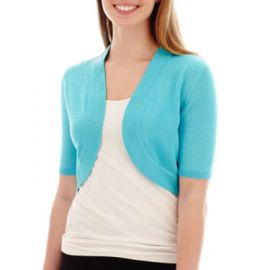 Bolero with elbow sleeves at JC Penney
