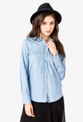 Bolt Studded Shirt at Forever 21