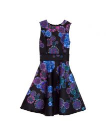 Bonded Party Dress in Moon Flower at Cynthia Rowley
