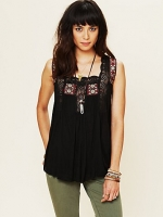 Bonnie's black crochet top by Free People  at Free People