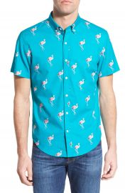 Bonobos  Flamingo Stand  Slim Fit Short Sleeve Sport Shirt at Nordstrom