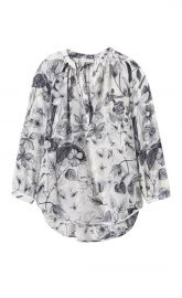 Botanical Print Blouse at Rebecca Taylor