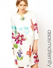 Botanical print shift dress at Asos